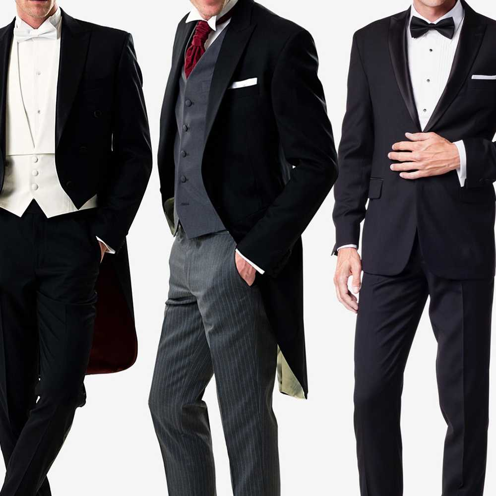 Tailor made suits, tuxedos, dress coats, morning coats, frock
